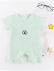 cheap -Baby Unisex Solid Colored Short Sleeve Romper