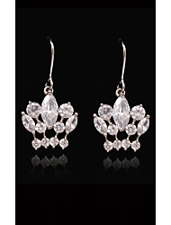 cheap -Women's Crystal - Gold Plated, S925 Sterling Silver Princess, Crown European, Fashion White and Sliver For Street / Holiday