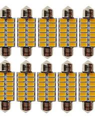 baratos -SENCART T10 Carro Lâmpadas 6W SMD 5730 360lm 12 Lâmpadas LED Iluminação interior For Universal Todos os Anos