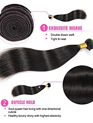 Недорогие -3 Связки Индийские волосы Монгольские волосы Прямой 8A Натуральные волосы Необработанные натуральные волосы Подарки Человека ткет Волосы Сувениры для чаепития 8-28 дюймовый Естественный цвет