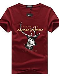 economico -T-shirt Per uomo Attivo Essenziale Alfabetico Animali