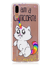 abordables -Coque Pour Huawei P20 / P20 lite Translucide Coque Chat Flexible TPU pour Huawei P20 / Huawei P20 Pro / Huawei P20 lite