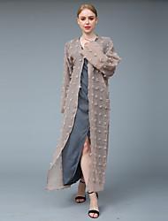 cheap -Women's Sophisticated Street chic Tunic Shirt Abaya Dress - Solid Colored Mesh