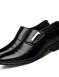 Недорогие -Муж. Официальная обувь Оксфорд / Полиуретан Весна & осень Удобная обувь Туфли на шнуровке Черный / Коричневый / Для вечеринки / ужина