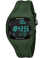 Недорогие -Муж. Спортивные часы Цифровой 50 m Защита от влаги Секундомер Хронометр PU Группа Цифровой На каждый день Черный / Белый / Зеленый - Черный Серый Зеленый / Фосфоресцирующий