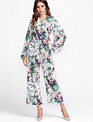 cheap -Dreamy Land Women's Jumpsuit - Floral V Neck