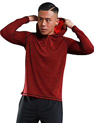 Недорогие -Муж. Футболка для бега - Красный, Темно-серый, Темно-зеленый Виды спорта Мода Толстовка / Рубашка Длинный рукав Спортивная одежда Легкие,