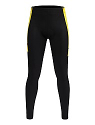 cheap -WOSAWE Unisex Cycling Pants Bike Tights / Bottoms Lightweight, 3D Pad, Cycling Classic Polyester, Spandex Black / Yellow Bike Wear