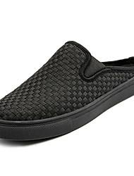 Недорогие -Муж. Ткань Весна / Лето Удобная обувь Башмаки и босоножки Черный / Черно-белый