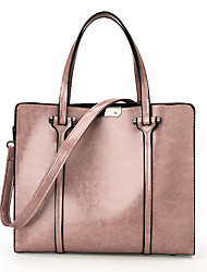 cheap -Women's Bags leatherette / PU Tote Zipper Blushing Pink / Brown / Wine