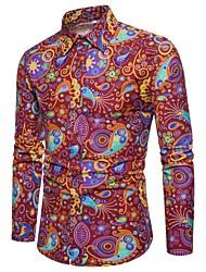 cheap -Men's Shirt - Color Block / Paisley / Camouflage Print