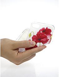 baratos -Capinha Para Apple iPhone X / iPhone 7 Ultra-Fina / Estampada / Adorável Capa traseira Flor Macia TPU para iPhone X / iPhone 8 Plus /