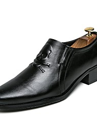 preiswerte -Herrn Formal Schuhe Leder / PU Frühling / Sommer Komfort Loafers & Slip-Ons Schwarz