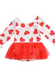 cheap -Baby Girls' Print Long Sleeve Dress