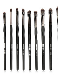 cheap -10-Pack Makeup Brushes Professional Makeup Brush Set / Eyeshadow Brush / Lip Brush Nylon fiber Professional / New Design / Full Coverage Wooden / Bamboo