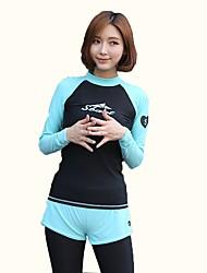 abordables -Mujer Traje de buceo Secado rápido, Transpirable, Cómodo Nailon Cuerpo Entero Bañadores Ropa de playa Un Color Natación / Deportes de Agua / Alta elasticidad
