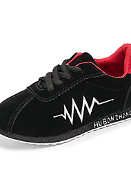 cheap -Boys' Shoes PU Spring & Summer Comfort / Light Soles Athletic Shoes Running Shoes Lace-up for Kids Black / Gray / Red