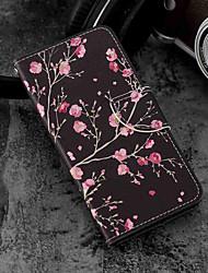 Недорогие -Кейс для Назначение Xiaomi Mi 6X / Mi 5X Бумажник для карт / Кошелек / со стендом Чехол Цветы Твердый Кожа PU для Xiaomi Mi 6X(Mi A2) /
