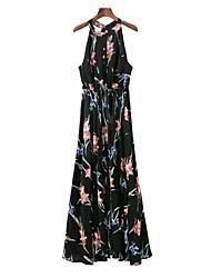 economico -Per donna Essenziale Swing Vestito - Con stampe, Fantasia floreale Maxi