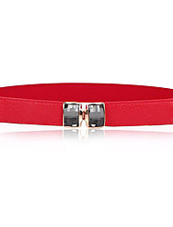 cheap -Women's Active Leather Waist Belt