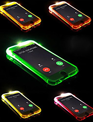baratos -Capinha Para Apple iPhone X / iPhone 8 Plus Luz de LED Capa traseira Sólido Macia TPU para iPhone X / iPhone 8 Plus / iPhone 8