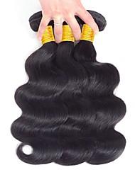 Недорогие -Перуанские волосы Волнистый Человека ткет Волосы / Накладки из натуральных волос Ткет человеческих волос Лучшее качество / Новое