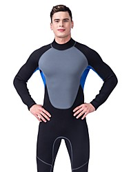 cheap -LIFURIOUS Men's Full Wetsuit 3mm Diving Suit High Elasticity Long Sleeve Solid Colored / Back Zipper / Neoprene