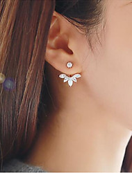 cheap -Women's Geometric Stud Earrings - Floral / Botanicals, Leaf, Flower Sweet Gold / Silver For Daily / Street