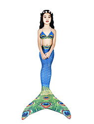 cheap -The Little Mermaid Cosplay Costume / Swimwear / Bikini Women's Halloween / Carnival Festival / Holiday Halloween Costumes Ink Blue Vintage