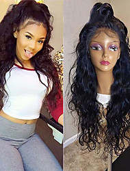 cheap -Synthetic Lace Front Wig Curly Layered Haircut 150% Density Synthetic Hair With Baby Hair / Heat Resistant / Natural Hairline Black / Burgundy Wig Women's Long Lace Front Wig / Yes / For Black Women