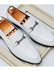 Недорогие -Муж. Наппа Leather / Кожа Осень Удобная обувь Мокасины и Свитер Белый / Черный / Вино