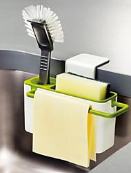 baratos -Organização de cozinha Prateleiras e Suportes Plástico Novo Design / Armazenamento / Fácil Uso 1pç