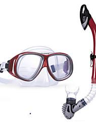 billiga Sport och friluftsliv-WAVE Snorklingspaket / Dykning Paket - Dykmaske, Snorkel - Anti-dimma, Mjuk, Torrdräkt – överdel Simmning, Dykning, Snorkelfenor Silikon,