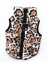baratos -Cachorros / Gatos / Animais de Estimação Vestuário de Inverno Roupas para Cães Sólido / Estampado / camuflagem Rosa claro / Preto /