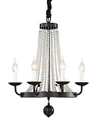 abordables -QINGMING® 6-luz Estilo de vela Lámparas Araña Lámpara Torchiere de Pie - Mini Estilo, 110-120V / 220-240V Bombilla no incluida / 10-15㎡
