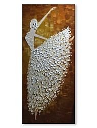 cheap -Oil Painting Hand Painted - Abstract People Comtemporary Modern Canvas