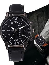 cheap -Men's Quartz Wrist Watch Chinese Chronograph Leather Band Minimalist Fashion Black Blue Brown