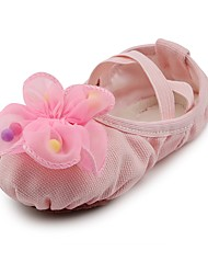 cheap -Women's Ballet Shoes Fabric Flat Flower Flat Heel Dance Shoes Pink / Indoor / Practice