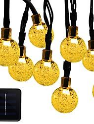 Недорогие -6м Гирлянды 30 светодиоды 1 монтажный кронштейн Тёплый белый / RGB / Белый Работает от солнечной энергии / Водонепроницаемый / Декоративная Солнечная энергия 1 комплект