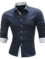 Недорогие -Муж. С принтом Рубашка Деловые Классический Буквы