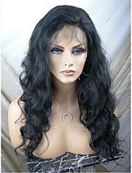 cheap -Virgin Human Hair Full Lace Wig Brazilian Hair Wavy Wig Layered Haircut 130% With Baby Hair / Natural Hairline Black Women's Short / Long / Mid Length Human Hair Lace Wig