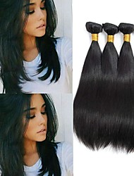 cheap -4 Bundles Peruvian Hair Straight Virgin Human Hair Natural Color Hair Weaves / Hair Bulk / Extension / Human Hair Extensions Natural Color Human Hair Weaves Soft / Hot Sale / 100% Virgin Human Hair