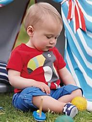 Недорогие -Дети / Дети (1-4 лет) Мальчики Фламинго Пэчворк С короткими рукавами Футболка