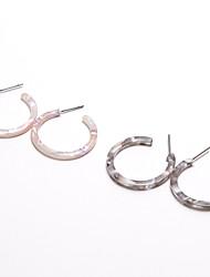 Недорогие -Серьги-кольца Серьги, обнимающие мочку уха Серьги Дамы Простой Мода Бижутерия Белый / Серый Назначение Повседневные