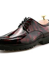 Недорогие -Муж. Печать Оксфорд Резина Весна / Лето Удобная обувь Туфли на шнуровке Черный / Черный / Красный / Черный / синий