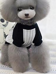 economico -Prodotti per cani / Prodotti per gatti T-shirt Abbigliamento per cani A strisce / Cartoni animati Grigio Cotone Costume Per animali