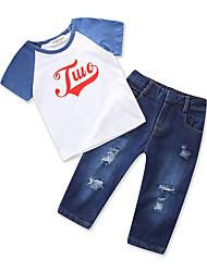 cheap -Kids Toddler Boys' Color Block Short Sleeves Clothing Set