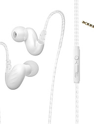 cheap -Factory OEM D-15 In Ear Wired Headphones Earphone Metal Shell Mobile Phone Earphone Stereo / with Microphone Headset