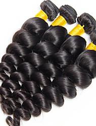 cheap -4 Bundles Malaysian Hair Wavy Human Hair Natural Color Hair Weaves / Human Hair Extensions Human Hair Weaves Best Quality / New Arrival / For Black Women Natural Color Human Hair Extensions Women's