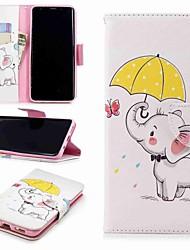 baratos -Capinha Para Samsung Galaxy S9 Plus / S8 Carteira / Porta-Cartão / Com Suporte Capa Proteção Completa Elefante Rígida PU Leather para S9 / S8 Plus